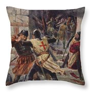 The Capture Of Constantinople Throw Pillow
