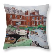 The Car Movers Of Phi Sigma Kappa Osu 43 E. 15th Ave Throw Pillow