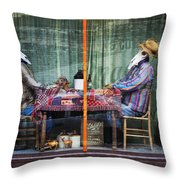 The Card Players Victor Colorado Img 8665 Throw Pillow