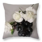 The Carnation Bunch Throw Pillow