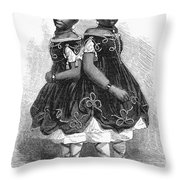 The Carolina Twins, 1866 Throw Pillow