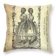 The Carolina Twins, C1869 Throw Pillow