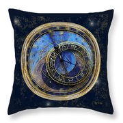The Carousel Of Time Throw Pillow