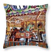 The Carousel Ride Throw Pillow