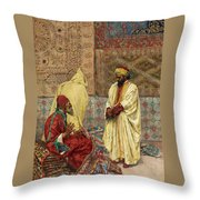 The Carpet Bazaar Throw Pillow