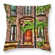 The Carrie Bradshaw Stoop From Sex And The City Throw Pillow