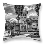 The Casa Monica Throw Pillow