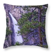 The Cascades Yosemite Np Throw Pillow