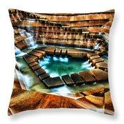 The Cascading Falls - Fort Worth Water Garden  Throw Pillow