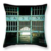 The Casino Throw Pillow