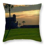 The Castillo De San Marcos Throw Pillow