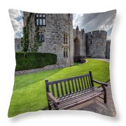 The Castle Bench Throw Pillow