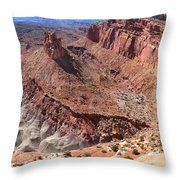 The Castle In Capitol Reef Np Throw Pillow