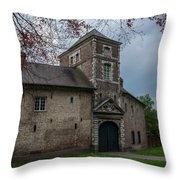The Castle Of Vert-bois Bondues Throw Pillow