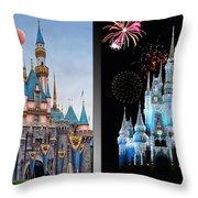 The Castles Of Disney 2 Panel Vertical Throw Pillow