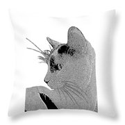 The Cat Throw Pillow