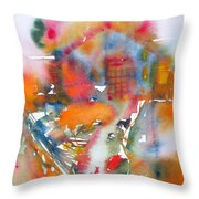 The Cat Getting Back Home Throw Pillow