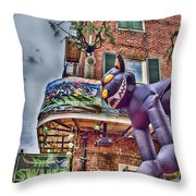 The Cat Is Out Of The Hat Throw Pillow