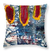 The Tabby Cat Saw The Lights Throw Pillow