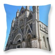 The Cathedral At Orvieto Throw Pillow
