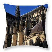 The Cathedral Basilica -  Amiens - France Throw Pillow