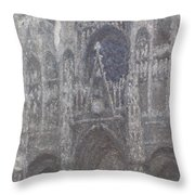 The Cathedral In Rouen Throw Pillow