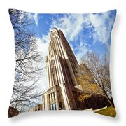 The Cathedral Of Learning 1 Throw Pillow