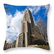 The Cathedral Of Learning 2g Throw Pillow