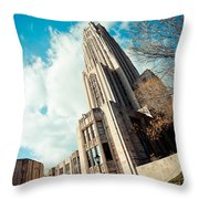 The Cathedral Of Learning 3 Throw Pillow
