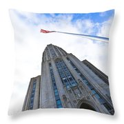 The Cathedral Of Learning 4 Throw Pillow