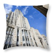 The Cathedral Of Learning 5 Throw Pillow
