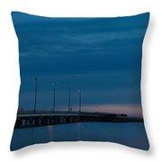 The Causeway Bridge Throw Pillow