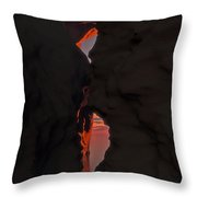 The Cave Entrance... Throw Pillow