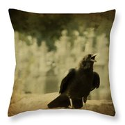 The Caw Throw Pillow