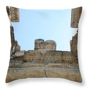The Ceiling Of The Tetrapylon Aphrodisias Throw Pillow by Tracey Harrington-Simpson