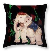 The Celestial Elephant Throw Pillow