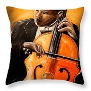 The Cello Player Throw Pillow