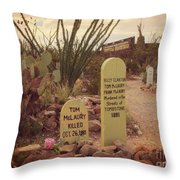 The Cemetery At Boothill Throw Pillow