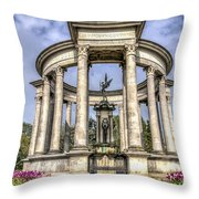 The Cenotaph Cardiff Throw Pillow