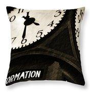 The Central Terminal Clock Throw Pillow