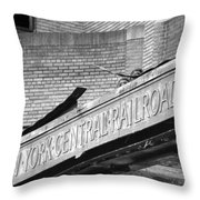 The Central Terminal Throw Pillow