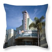 The Century Theatre In Ventura Throw Pillow