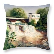 The Chagrin Falls In Summer Throw Pillow