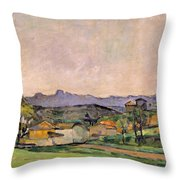 The Chaine De Letoile With The Pilon Du Throw Pillow by Paul Cezanne