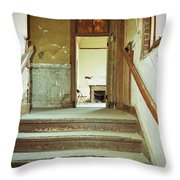 The Chair At The Top Of The Stairs Throw Pillow