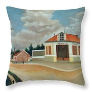 The Chair Factory At Alfortville Throw Pillow