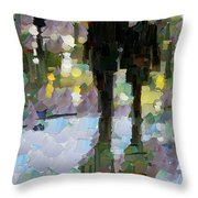 The Champs Elyseee After The Rain Throw Pillow