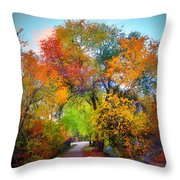 The Changing Tree Throw Pillow