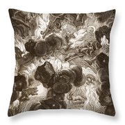 The Chaos, Engraved By Bernard Picart Throw Pillow