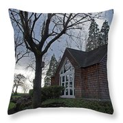 The Chapel At Eagle Point National Cemetery Throw Pillow